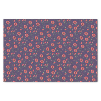Blooming Springtime Poppies Purple Tissue Paper