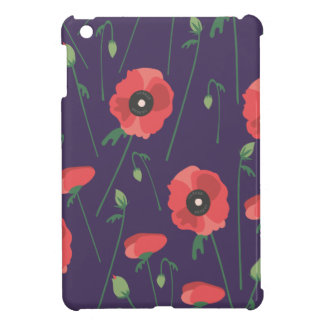 Blooming Springtime Poppy Purple Case For The iPad Mini