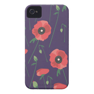 Blooming Springtime Poppy Purple iPhone 4 Cover