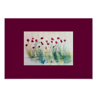 Blooming Watercolor Spatter Poster
