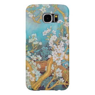 Blooming white peach flowers customize samsung galaxy s6 case