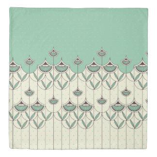 Blooming Winter Pattern Duvet Cover