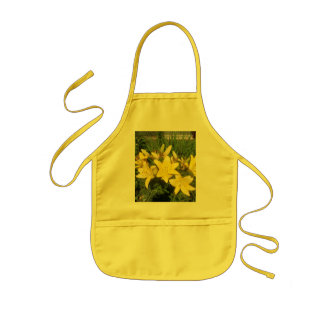 Blooming Yellow Flowers Kids Apron