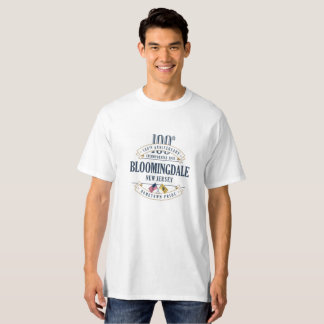 Bloomingdale, New Jersey 100th Ann. White T-Shirt