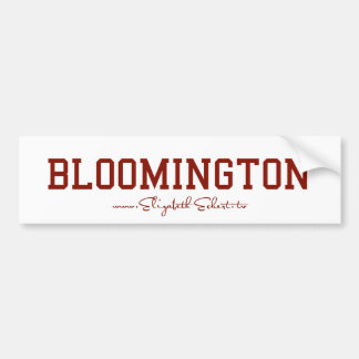 Bloomington Bumper Sticker