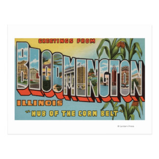 Bloomington, Illinois - Large Letter Scenes 2 Postcard