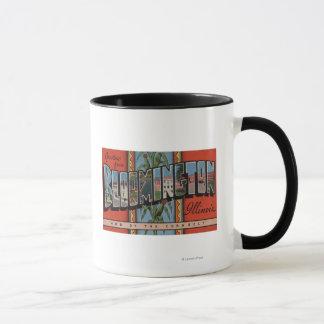Bloomington, Illinois - Large Letter Scenes Mug