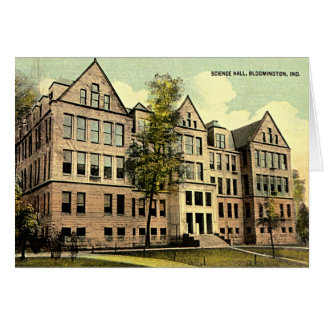 Bloomington Indiana IU Science Hall 1930 Card