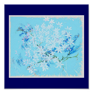 Blooms in Blue Poster