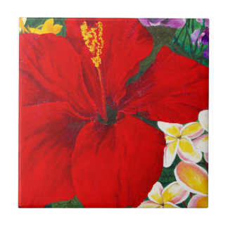 """Blooms of Aloha"" Tile"