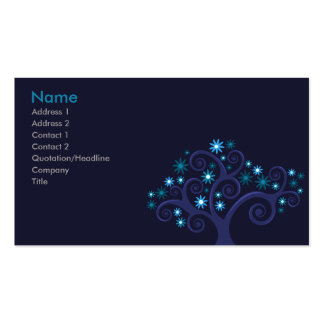 Blooms Profile Card Business Card Templates