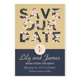 Bloomy Invitation Save our date