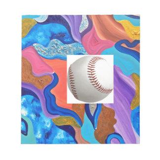 Blossom Baseball Notepad