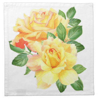 Blossom Beauties Napkin - Yellow Roses