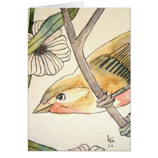 blossom bird no. 2 note card