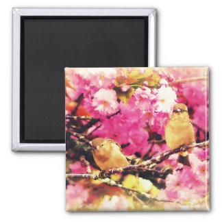 Blossom Birdies Square Magnet