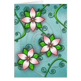 Blossom (Cyan) Card