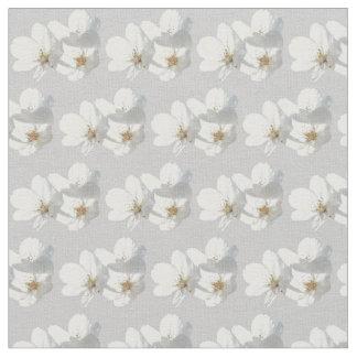 Blossom Fabric White Blossom Fabric Cotton or Poly