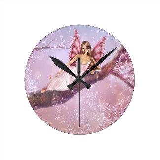 Blossom Fairy Round Clock