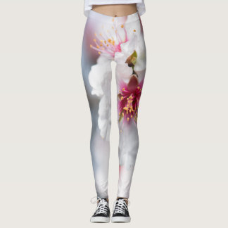 Blossom of the almond tree leggings