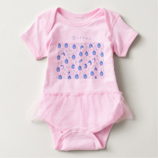 blossom on pink baby bodysuit