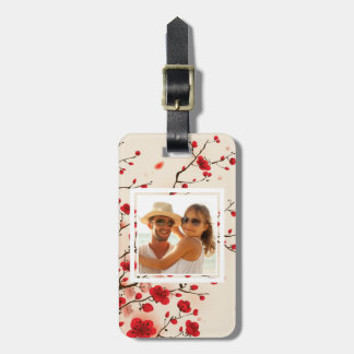 Blossom Oriental Style Painting | Add your Name Bag Tag