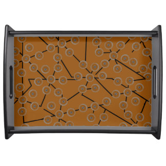 BLOSSOM PATTERN deep orange Serving Platter