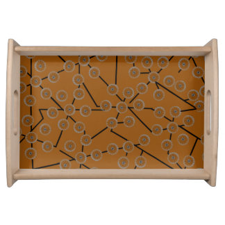 BLOSSOM PATTERN deep orange Serving Tray