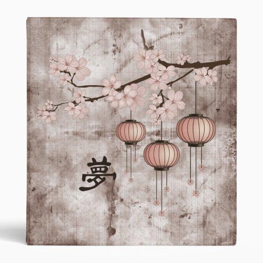 "Blossom pink lanterns ""Dream"" 3 Ring Binder"