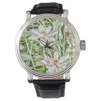 Blossom Pink Lotus Flower Wrist Watch