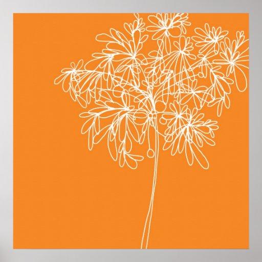 Blossom Pop Orange Poster