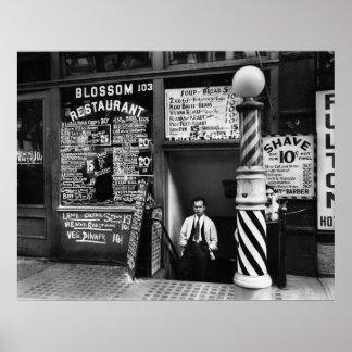 Blossom Restaurant, 103 Bowery, 1935 Poster