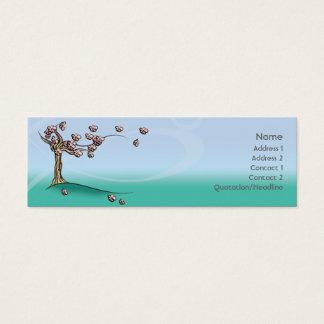 Blossom - Skinny Mini Business Card