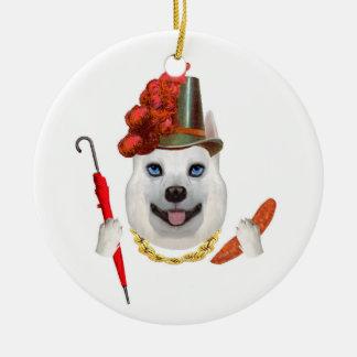 Blossom the Dog Ceramic Ornament