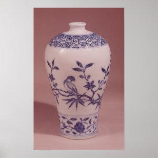 Blossom vase, Ming dynasty Poster