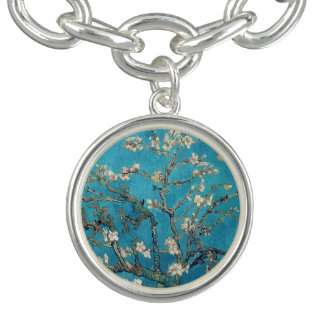 Blossoming Almond Tree by Vincent van Gogh Charm Bracelets