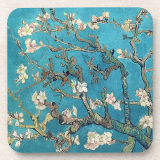 Blossoming Almond Tree by Vincent van Gogh Drink Coaster
