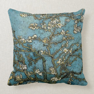 Blossoming-Almond-Tree Throw Pillow