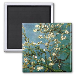 Blossoming Almond Tree Van Gogh Fine Art Square Magnet