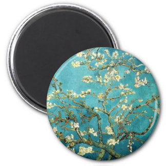 Blossoming Almond Tree - Vincent Van Gogh 2 Inch Round Magnet