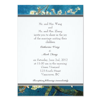Blossoming Almond Tree wedding invitation. Card
