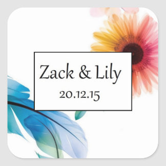 Blossoming Bloom Wedding Sticker