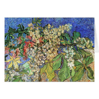 Blossoming Chestnuts Branches, Van Gogh. Card