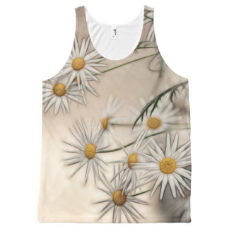 Blossoming Daisies Sketch All-Over-Print Tank Top