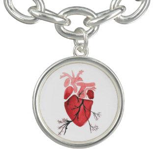 Blossoming Heart Charm Bracelet