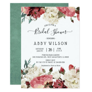 Blossoming Joy Spring Floral Bridal Shower Invites