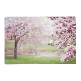 Blossoming Magnolia Trees Laminated Placemat