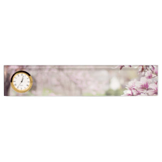 Blossoming Magnolia Trees Nameplate