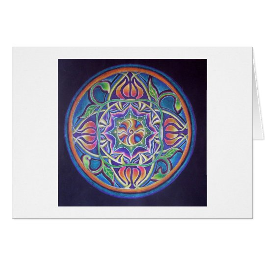 Blossoming Mandala Card