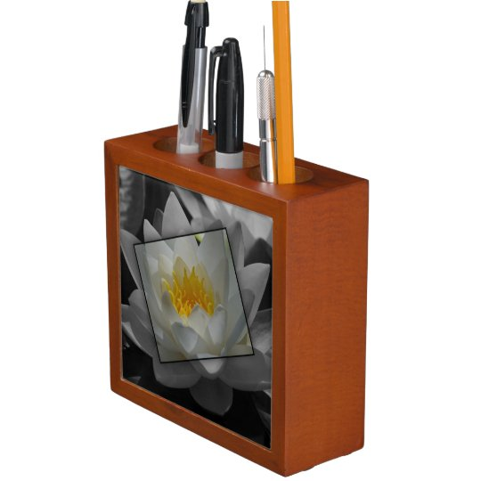 Blossoming of water lily desk organizers